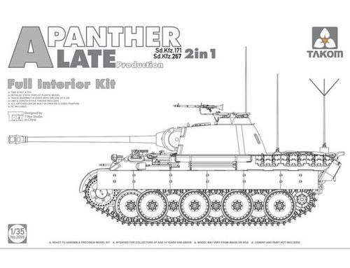 2099   1/35 Panther Ausf. A late prod. (full interior)