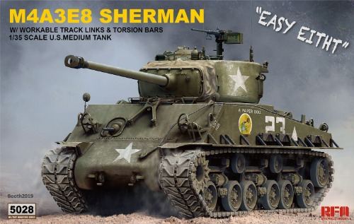 RM5028 1/35 M4A3E8 Sherman w/Workable Track Links