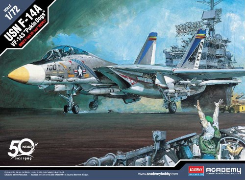 12563 1/72 USN F-14A  VF-143 Pukin Dogs