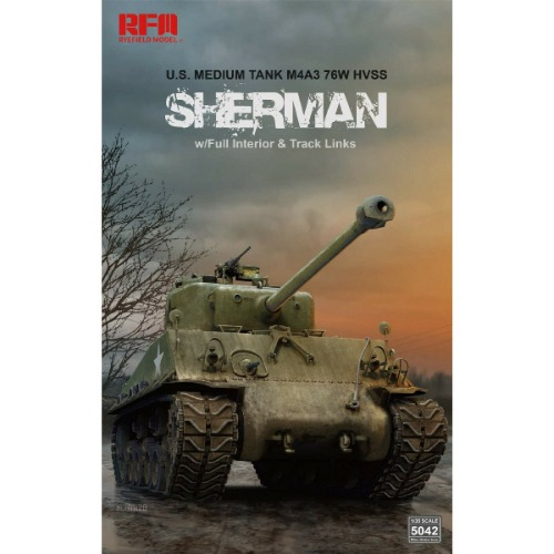RM5042  1/35 M4A3 HVSS Sherman Easy Eight w/Workable Tracks & Full Interior