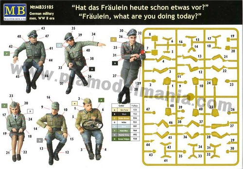 mb3570 1/35 'Fräulein, What are you doing today?' German Military Men WWII era
