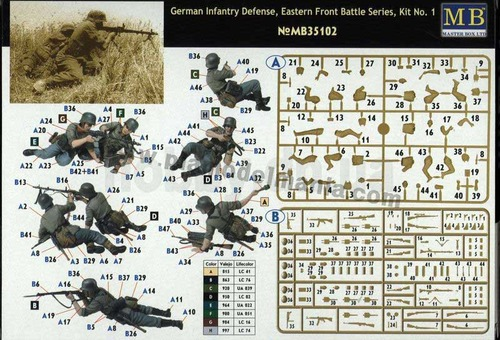 mb35102  1/35 German Infantry Defense, Eastern Front Battle Series