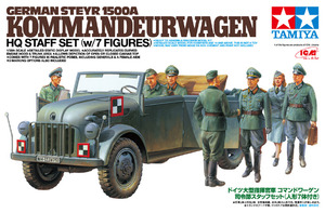 25149 [한정판]1/35 German Steyr 1500A Kommandeurwagen HQ Staff Set w/7 Figures