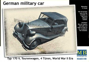 MB35100 1/35 WWII German Military Car, Type 170V Tourenwagen 4