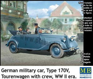 mb35113 1/35 German Military Car Type 170V, Tourenwagen with Crew WWII era
