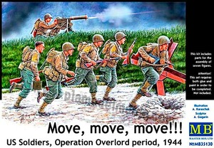 mb35130 1/35 Move, move, move! US Soldiers Operation Overlord Period 1944