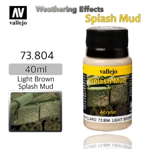 73804 Weathering Effects _ Splash Mud _ 40ml _ Light Brown Splash Mud