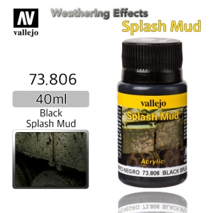 73806 Weathering Effects _ Splash Mud _ 40ml _ Black Splash Mud