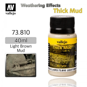 73810 Weathering Effects _ Thick Mud _ 40ml _ Light Brown Mud