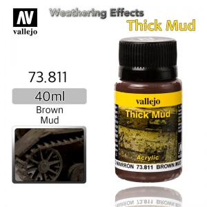 73811 Weathering Effects _ Thick Mud _ 40ml _ Brown Mud