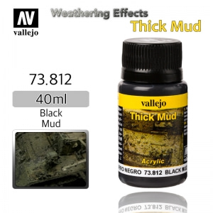 73812 Weathering Effects _ Thick Mud _ 40ml _ Black Mud