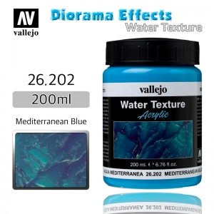 26202 Diorama Effects _ Water Texture _ 200ml _ Mediterranean Blue