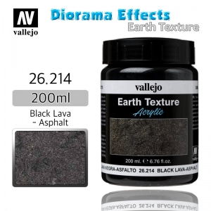 26214 Diorama Effects _ Earth Texture _ 200ml _ Black Lava - Asphalt