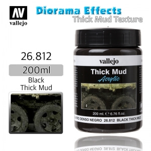 26812 Diorama Effects _ Thick Mud Texture _ 200ml _ Black Thick Mud
