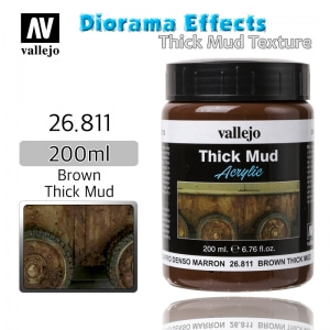26811 Diorama Effects _ Thick Mud Texture _ 200ml _ Brown Thick Mud