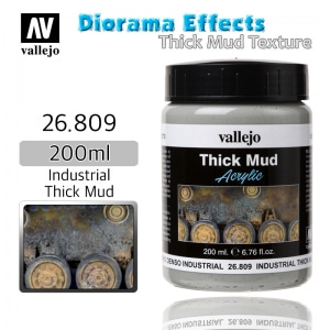 26809 Diorama Effects _ Thick Mud Texture _ 200ml _ Industrial Thick Mud