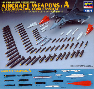 36001    X48-1 1/48 US Aircraft Weapons set A-bombs + Tow target