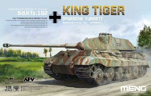 TS-037  [초회한정판]1/35 German Sd.Kfz.182 King Tiger Porsche Turret w/Metal Barrel