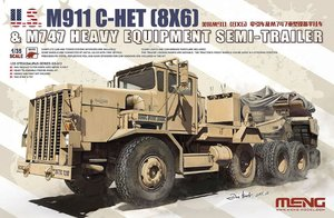 SS-013  1/35 US M911 C-HET(8x6) & M747 Heavy Equipment Semi-Trailer