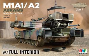 RM5007  1/35 M1A1/A2 Abrams w/Full Interior & Workable Tracks 2 in1