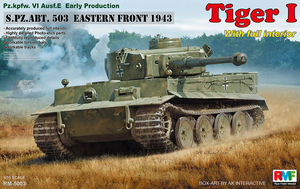 RM5003  1/35 Pz.Kpfw.VI Ausf.E Tiger I Early Production w/Full Interior