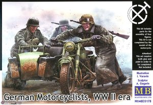 MB35178 1/35 German Motorcyclists, WWII era