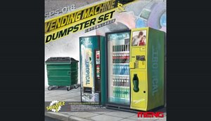 SPS018   1/35 Vending Machine & Dustbin Set