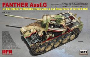 RM5019   1/35 Panther Ausf.G w/Full Interior & Workable Tracks & Cut away Parts of Turret & Hull