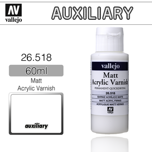 Vallejo _ 26518 Auxiliary _ 60ml _ Matt Acrylic Varnish