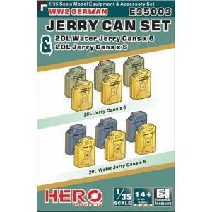 E35003  1/35 WWII German Jerry Can & Jerry Can Water Set