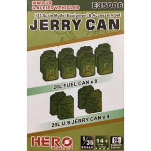E35006  1/35 WWII Jerry Can & Blitz Can Set For US and Allied Vehicles