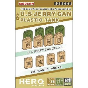 E35008  1/35 US Jerry Can & Plastic Tank