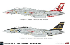 KP72003A 1/72 F-14A Tomcat 'Sundowners', 'Gunfighters'