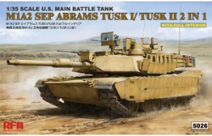 RM5026 1/35 M1A2 SEP Abrams Tusk I/Tusk II 2 in 1 w/Full Interior