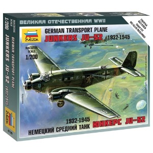 6139 1/200 Junkers Ju-52 German Transport Plane (New Tool- 2011)