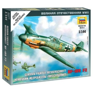 6116 1/144 Messerschmitt Bf-109 F-2~ Snap Kit (New Tool- 2010)
