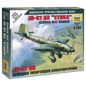 6123 1/144 Junkers JU-87 Stuka~ Snap Kit (New Tool- 2010)