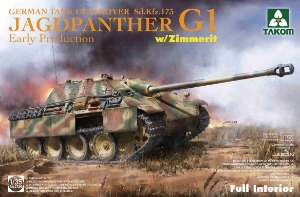 2125 1/35 Jagdpanther G1 Early Sd.Kfz.173 w/Zimmer/full interior kit