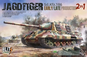8001 1/35 Jagdtiger Sd.Kfz.186 Early / Late Production 2 in 1