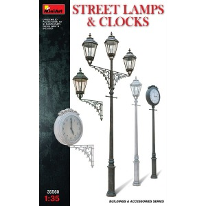 35560 1/35 STREET LAMPS & CLOCKS