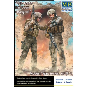 24068 1/24 Modern War Series, kit No. 1 Our route has been changed