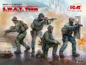 DS2401 1/24 SWAT Team  4 figures