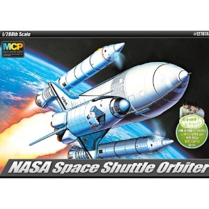 12707  1/288 SPACE SHUTTLE W/BOOSTER ROCKETS 우주왕복선 MCP [다색칼라사출]
