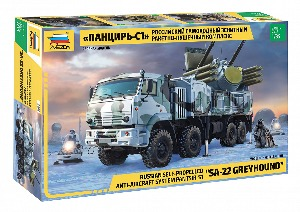 3698  1/35 Russian Self-Propelled Anti-Aircraft System Pantsir-S1 'SA-22 Greyhound'