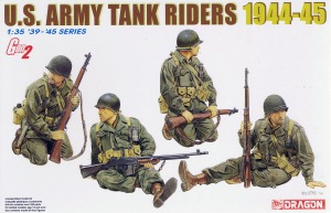6378 1/35 US Army Tank Riders 1944-45 (4 Figures Set) ~ Gen 2  v