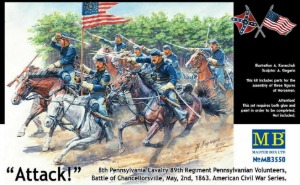 MB3550   8th Pennsylvania Cavalry 89th Regiment Pennsylvanian Volunteers, Battle of Chancellorsville, May, 2nd, 1863. American Civil War Series. Attack