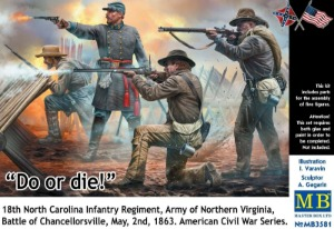 MB3581  1/35 Do or die-18th North Carolina Infantry Regiment, Army of Northern Virginia, Battle of Chancellorsville, May, 2nd, 1