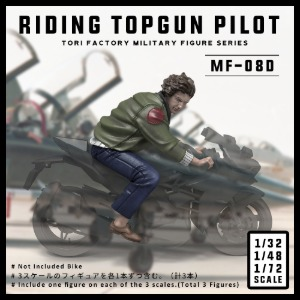 MF08D  1/32/48/72 Riding Topgun Pilot (3 Figures)