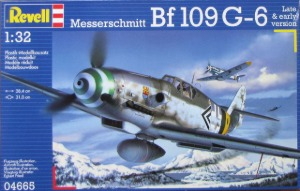 4665 1/32 Messerschmitt BF109 G-6 Late & early version (New Tool- 2013)